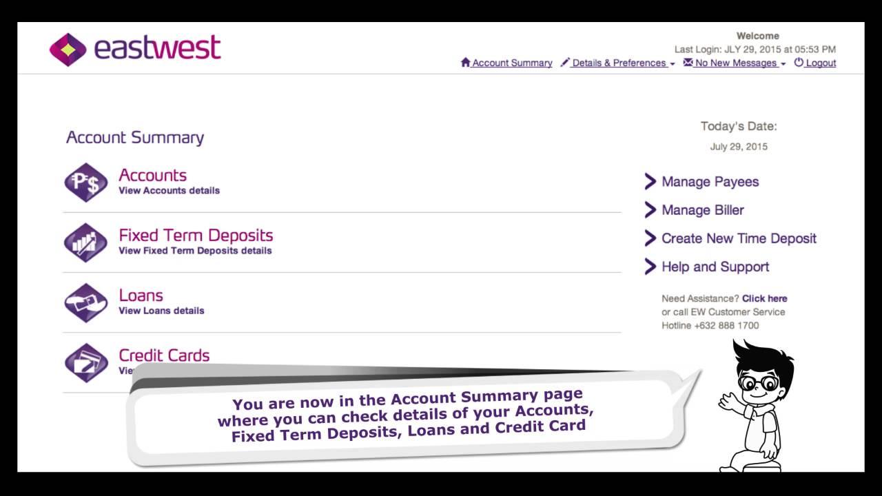 eastwest bank credit card online enrollment