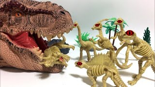 Dinosaur Zombies Episode . Jurassic World Giant T-Rex funny story - Lego Dinosaur toy for kid