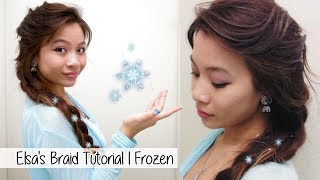 Elsa's Braid Hair Tutorial l Disney's FROZEN