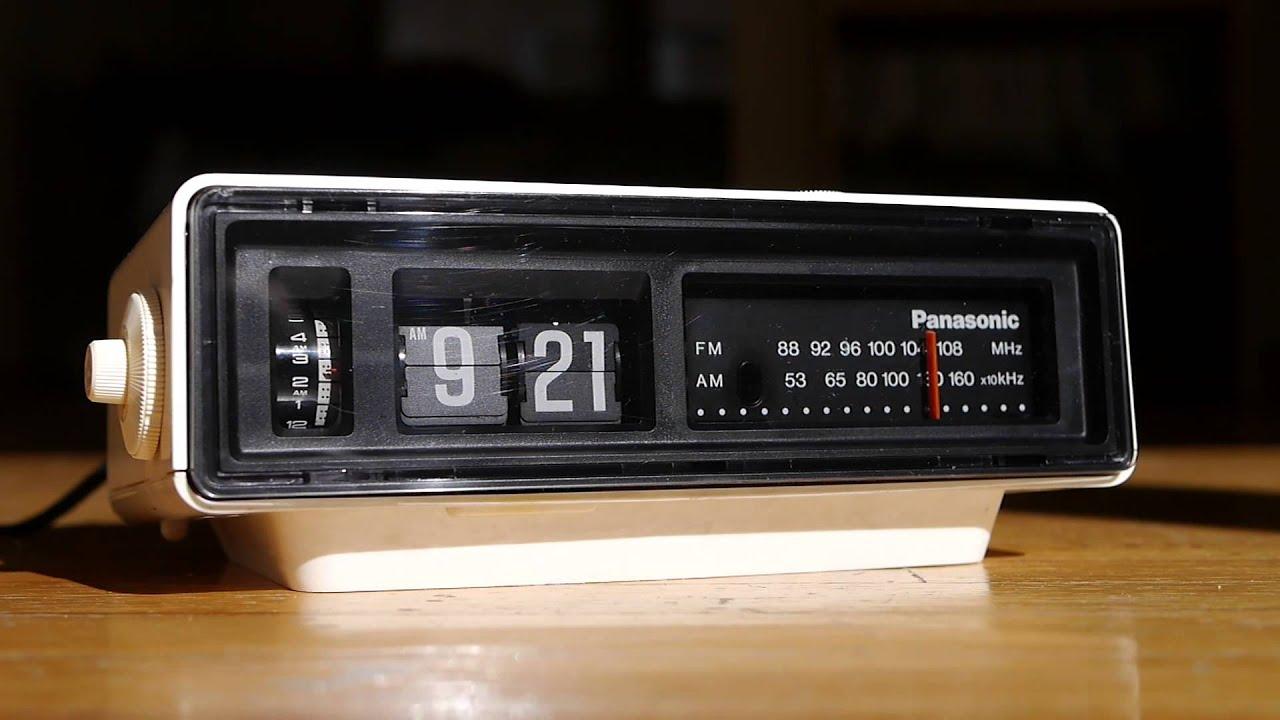 Panasonic Ground Hog Day Movie Flip Clock Alarm Vintage