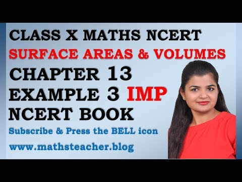 Chapter 13 Surface Areas and Volumes Example 3 Class 10 Maths NCERT