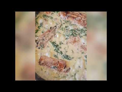 saumon-a-la-crème-fraîche-and-épinards-#saumonfresh