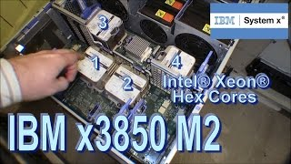 Four powerful Xeon Hex Core in a IBM x3850 M2 - 149