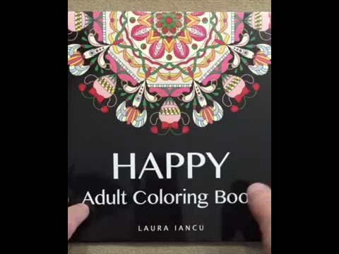 Happy Adult Coloring Book Whimsical Mandalas Books For Adults Volume 1 Flip Through