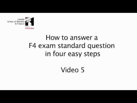 LSBF ACCA 10 STEPS TO PASS F4: STEP 5