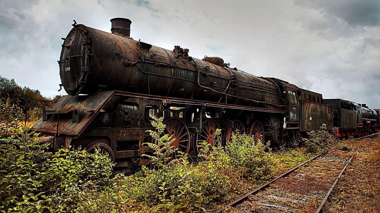 Заброшенные поезда и паровозы