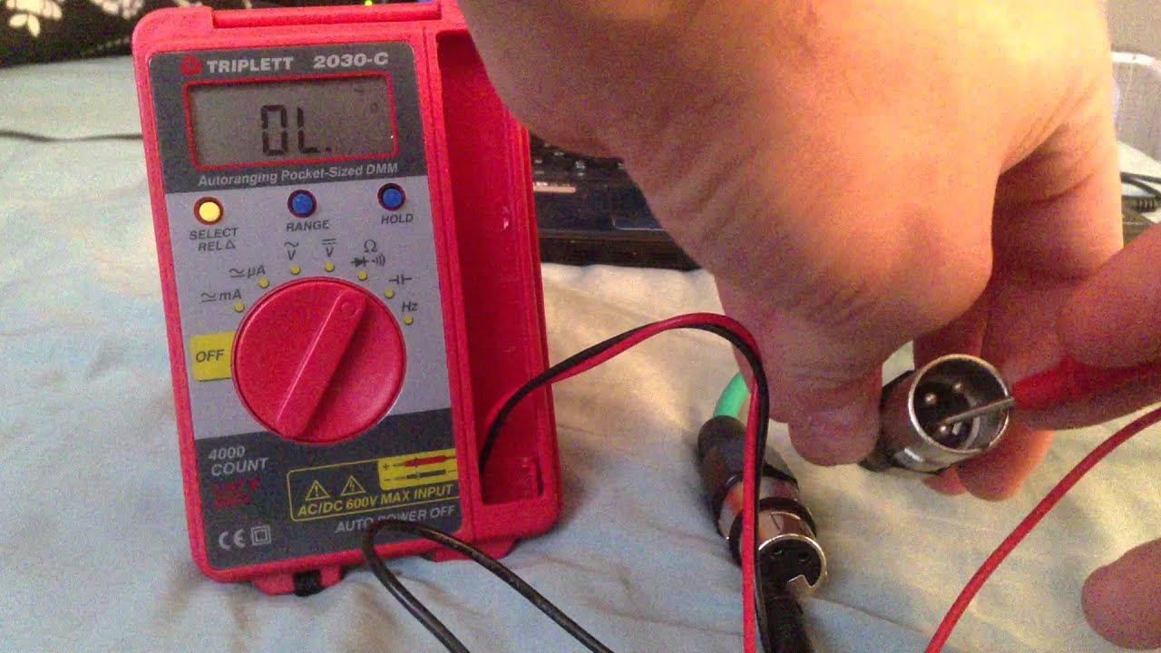 How To Test An Xlr Cable Using A Multimeter Youtube