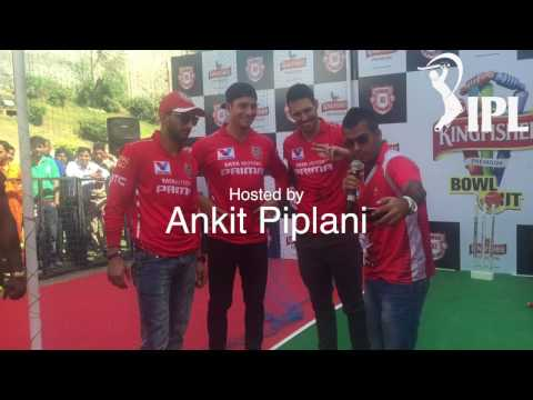 Ankit Piplani celebrating with Indian Premier League cricketers