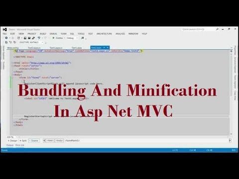 How To Implement Bundling And Minification In Asp Net MVC