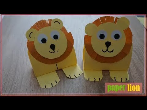 Art Cutting Paper || How To Make A Paper Lion