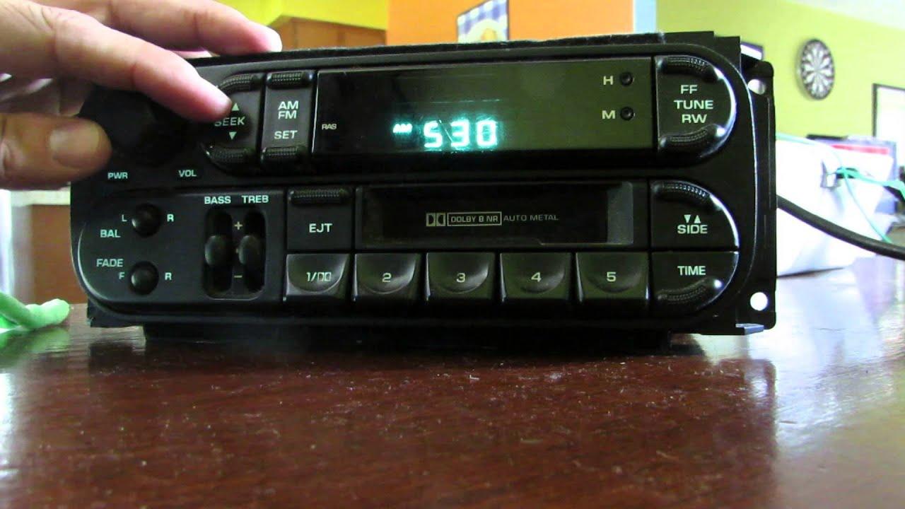 Chrysler Radio Cassette Testing