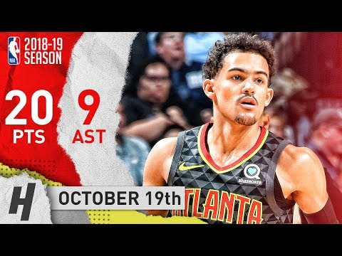 Trae Young Full Highlights Hawks vs Grizzlies 2018.10.19 - 20 Points, 9 Ast