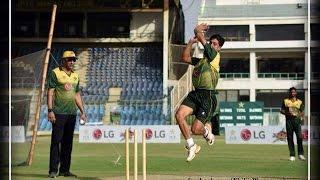 Upcoming Pakistani Bowler - Bilal Shah Afridi bowling.