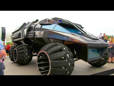 Kennedy Space Center Visitor Complex - NASA Futuristic 2020 Mars Rover Unveiled [720p60]