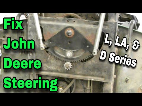 How To Fix The Steering On John Deere (L, LA and D Series) Riding Mowers - with Taryl