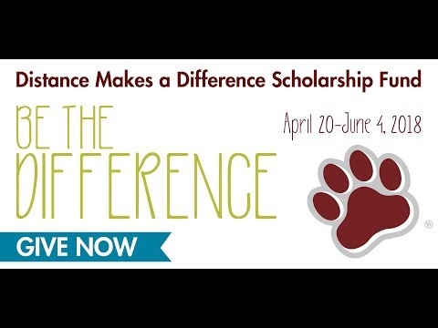 Be The Difference - Donate to the Distance Makes A Difference Scholarship Fund