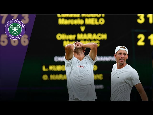 Kubot & Melo celebrate winning epic Wimbledon 2017 gentlemen's doubles final