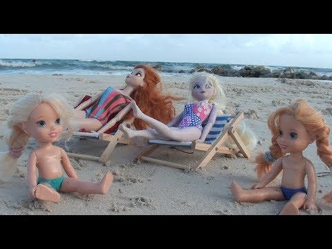 Elsa and Anna toddlers go on holidays and pack their suitcases part 2 beach adventure Anna drowns