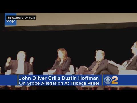 Comedian John Oliver Grills Dustin Hoffman On Sexual Harassment Allegations