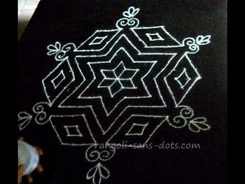 15 dots common kolam design for Margazhi , New Year   Sankranti ...