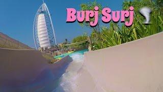 funny Burj Surj waterslide at Wild Wadi Waterpark Dubai (GoPro Hero 5)