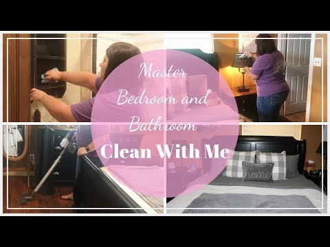 Master Bedroom Clean With Me//Master Bathroom Clean With Me//Cleaning Motivation