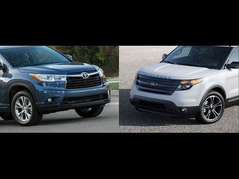 2014 toyota highlander vs ford explorer by the numbers youtube. Black Bedroom Furniture Sets. Home Design Ideas