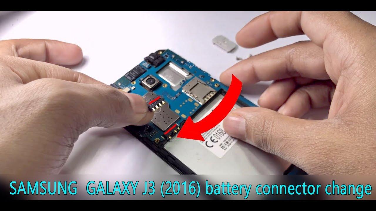 Samsung galaxy J3 (2016) battery connector change
