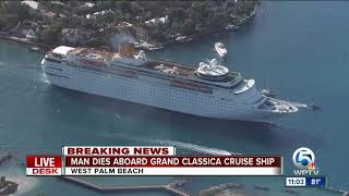Man dies after being medevaced from Grand Classica cruise ship