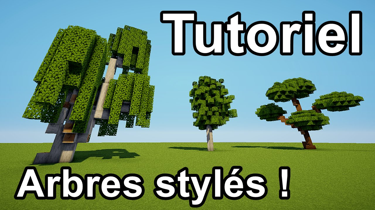 Maison Design Minecraft : Minecraft tuto comment faire des arbres stylés sur