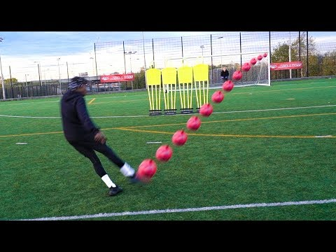 INSANE FREEKICKS!!! YOUTUBER 'BEAT THE WALL' CHALLENGE!!!