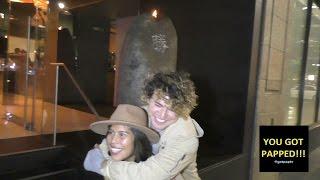 JC Caylen gets a piggy back ride from his fan Celebrity Hunter Nicole