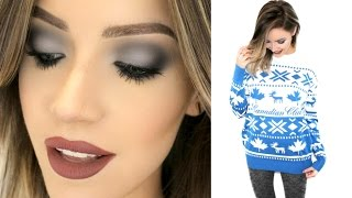 Deep Blue SMOKEY EYE Tutorial - GOOD FOR HOODED EYES | #kjbadsweater | Stephanie Lange