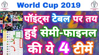 World Cup 2019 - Points Table Prediction For Top 4 Semi Final Teams | MY Cricket Production