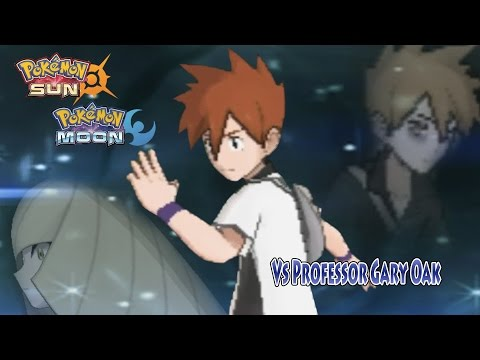 Pokemon Sun and Moon Alola Blue Vs Professor Gary Oak (Alternate Gary)