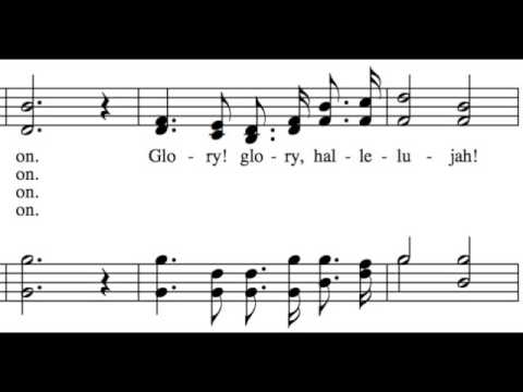 Battle Hymn of the Republic - All Parts - Learn How to Sing Hymns