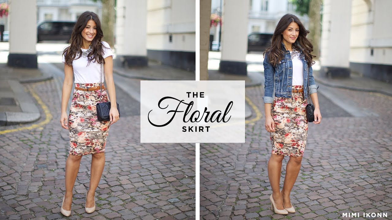 The Floral Skirt Outfit Of The Day Youtube