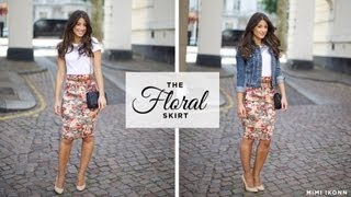 The Floral Skirt Outfit of the Day Thumbnail