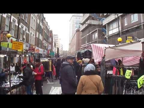 Some sights & sounds around Petticoat Lane Street Market, London - Sunday 9th February 2014