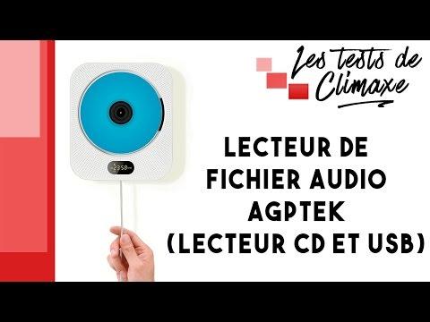 Test d'un lecteur de musique sur CD ou clé USB (fichiers mp3, wav...) AGPTek
