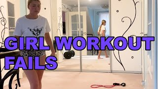 Girl Workout Fails || Funny Videos