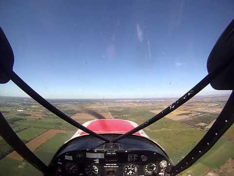 Circuits in a Piper PA-18 Super Cub (FFKO). Burlington Airpark, Ontario. Spectrum airways.