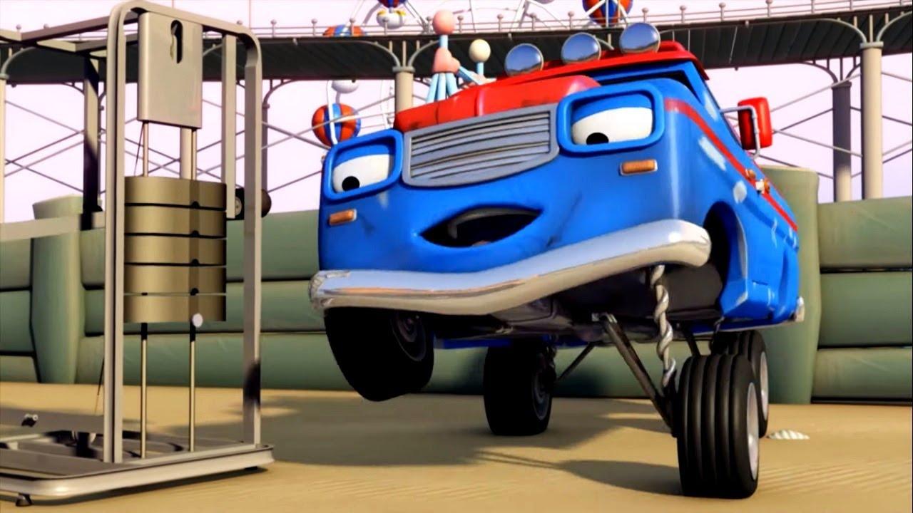 Олли Веселый грузовичок  - Самый сильный грузовик Бампона  - Мультфильм про машинки - Премьера
