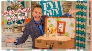 Fyi Guy: Vintage Suitcase Pet Bed