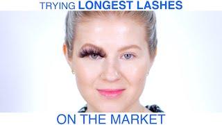 Trying on the LONGEST EYELASHES on the Market