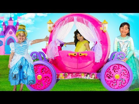 Disney Princess Carriage Ride On | Halloween Costumes And Toys