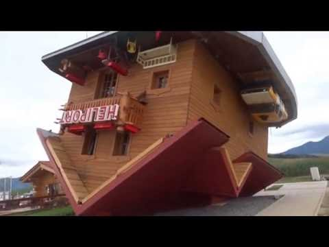 House upside down, Obrateny dom, Slovakia 2016,  Tourist attraction in Slovakia
