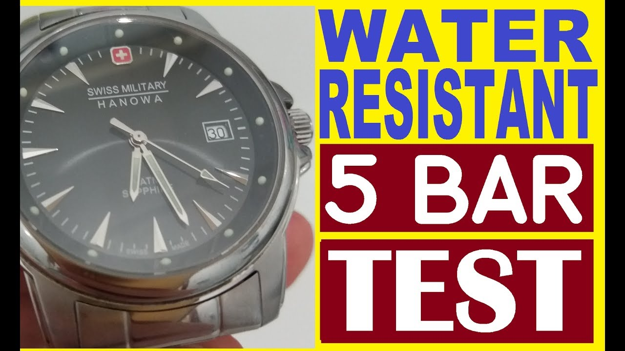 Water Resistant 5 Bar 5atm 50m Test At Home My Swiss Military Hanowa