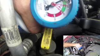 Charging the AC on a 1997-2002 Ford Expedtion/F150