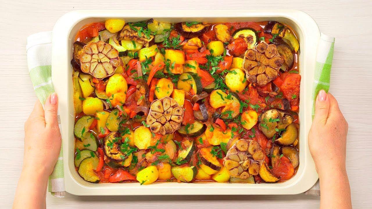 Запечені овочі в маринаді часниковому